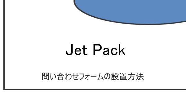 JetPackの問い合わせフォームの設置方法
